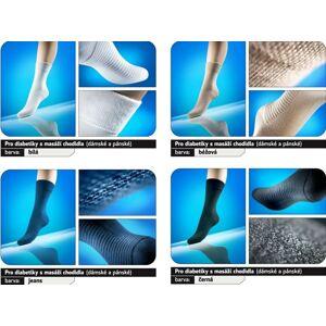 Ponožky pro diabetiky s masážním chodidlem Loana - Velikost 23-25 dámské barva modrá