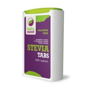 Sladidlo - Natusweet Stevia Tabs dávkovač 300 tbl/18 g