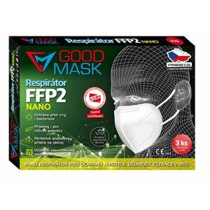 Respirátor FFP2 GOOD MASK GM2 NANO 3ks